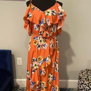 Orange Flower Sundress